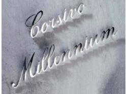 Lettere in colore argento