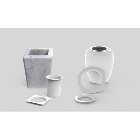 Ghiere in plastica per vasi in marmo e porcellana for Vasi marmo