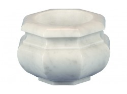 Ciotole A Terreno In Bianco Carrara - LMT01