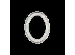LB-09X12/BC - Cornice ovale Bianco Carrara
