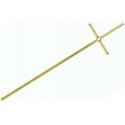 Croce rombo ottone lucido