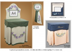 Copritavoli firme CTR14, portamanifesti, coccarde, tappetini