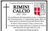 Il funerale della Rimini Calcio: un corteo di quasi 500 persone