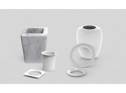 Ghiere in plastica per vasi in marmo e porcellana