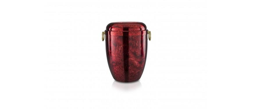 Urna rosso rubino spugnato