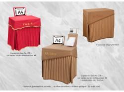 Copritavoli firme CTR14, 15, portamanifesti, coccarde, tappetini